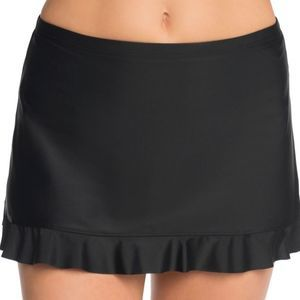 ST JOHN'S BAY Black Minimizer Swim Skirt Size 12